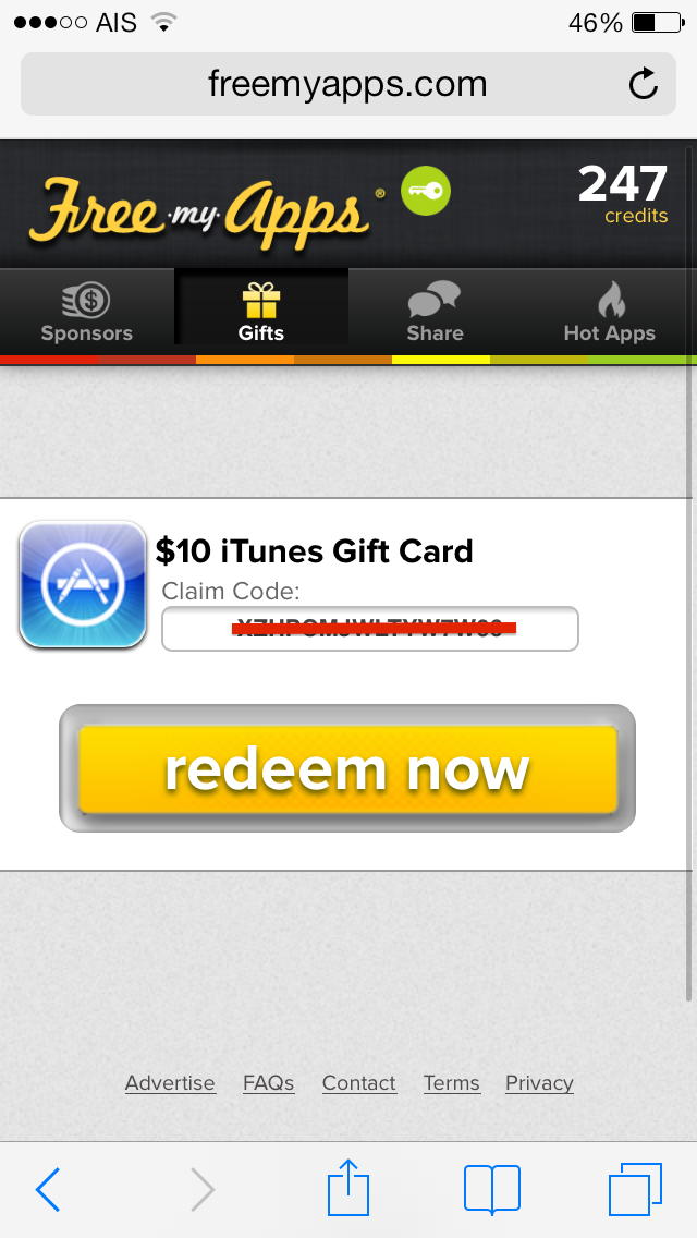 Redeem your gift cards and codes